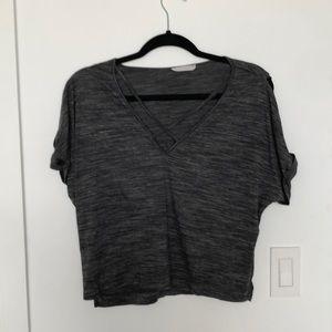 Gray cross cross tshirt